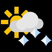 Es gibt insgesamt mehr Sonne als Wolken aber auch etwas Regen Schneeregen oder Schnee. Oft ist das Wetter leicht wechselhaft mit Schauern.