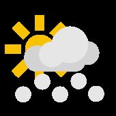 Es gibt viel Sonne aber einzelne Schneeschauer sind möglich.
